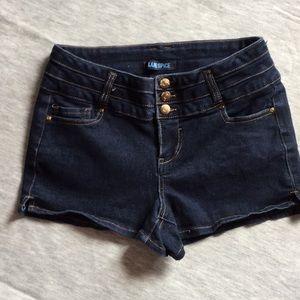 Blue Spice Denim Shorts